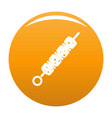 shish kebab icon orange vector image