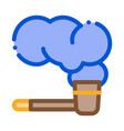 smoking pipe icon outline vector image
