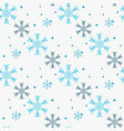 snowflake simple seamless pattern blue snow on vector image vector image
