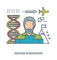 successful learning and motivation to achieve goal vector image