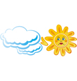 Sun cloud vector image vector image