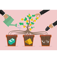 take care your business investment vector image vector image