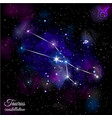taurus constellation with triangular background vector image vector image