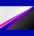 template corporate concept blue purple and black vector image vector image