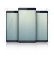 trio set of realistic smartphones collection vector image vector image