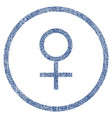 venus female symbol rounded fabric textured icon vector image vector image