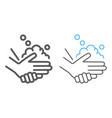 washing hands with soap line and line color icon vector image vector image