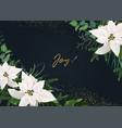 winter season invite greeting banner template vector image vector image