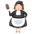Woman Dressed Maid vector image vector image