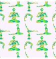Yoga poses seamless pattern vector image vector image