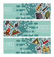 set of horizontal banners about boy scouts vector image