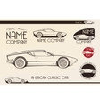 American classic sports car silhouettes vector image
