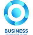 Blue circle target icon or round loop logo vector image