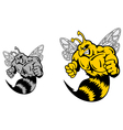 Angry hornet or yellow jacket mascot vector image vector image