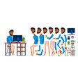 arab man office worker business animation vector image