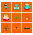 assembly flat halloween monster vector image vector image