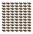 beetles wallpaper on white background vector image vector image