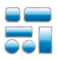 blue buttons vector image
