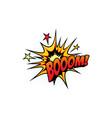 boom pop art comic bubble half tone cloud sign vector image