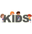boy and girl character with kids icon vector image vector image