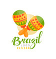 Brazil logo design bright festive party banner