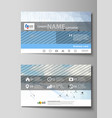 business card templates easy editable vector image vector image