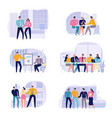 business meeting icons set vector image vector image