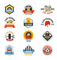 car repair service logo auto badge emblems vector image