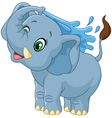 Cartoon elephant spraying water vector image vector image