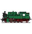 Classic green steam locomotive vector image vector image