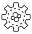 cog wheel icon outline style vector image