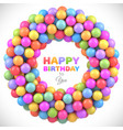 colorful balls frame with place for your content vector image