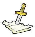 comic cartoon dagger in maps vector image vector image
