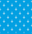 commercial plane pattern seamless blue vector image vector image
