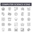 computer science line icons for web and mobile vector image vector image