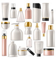 cosmetic product skincare cream bottle vector image