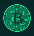 crypto currency bitcoin in trendy green colors vector image vector image