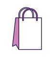 cute shopping bag cartoon vector image vector image