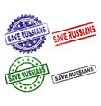 damaged textured save russians stamp seals vector image vector image