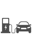 electric car charging station vector image vector image