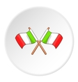 Flag of Italy icon cartoon style vector image