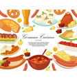german cuisine background banner vector image vector image