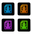 glowing neon eps file document icon download eps vector image vector image