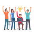 group of coworkers have idea isolated vector image vector image