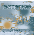 halftones on grunge background vector image