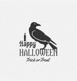 happy halloween label emblem or card vector image vector image