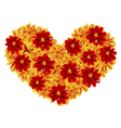 Heart of flowers vector image vector image