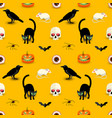 horror halloween orange seamless pattern vector image vector image