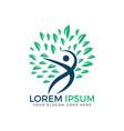 human tree logo design holistic health logo design vector image