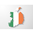 Ireland country map with shadow effect vector image